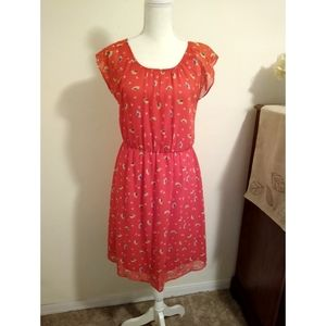 Size 4 AB Studio bright red floral dress